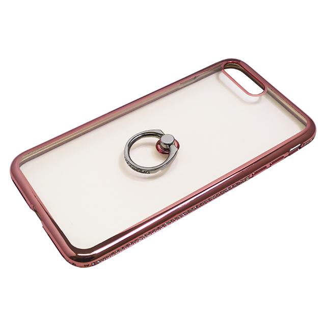 iPhone7 Plus用ジャケット リング付き ラインストーン